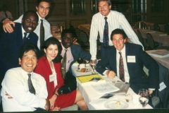 Geoffrey and class mates of international law in Dallas Texas 1994