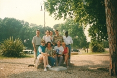 Geoffrey and classmates of Enterprise law in Rome 1996