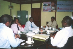 Geoffrey then CEO PWICO attending a board meeting