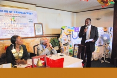 Speaking at the Rotary Club of Kampala West