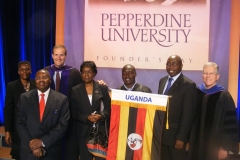 Attending Founders Day at Pepperdine University USA 2011
