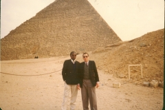 Geoffrey as a State Attorney at the pyramids in egypt 1992