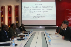 Leading delegation to Courts in Singapore