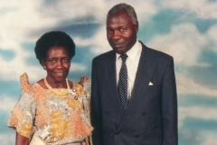 Geoffery's parents Jovan and Mary Kiryabwire