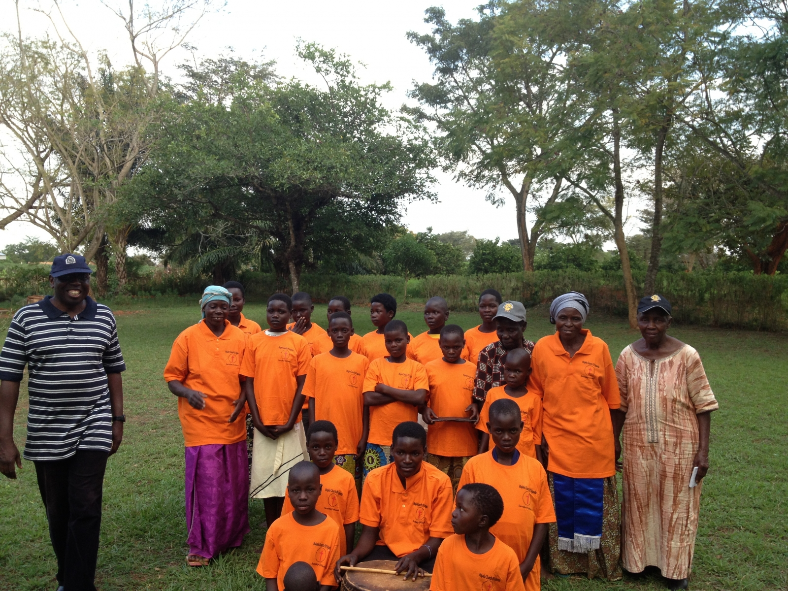 Donating T-Shirts to a rural church choir in Magala Eastern Uganda