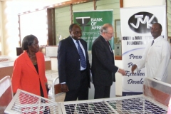 Handing over new beds to ward 3A Neuro at Mulago Hospital