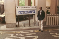 Geoffrey at British Council offices London as a post graduate student