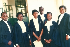 Geoffrey presenting sister  Angela and other lawyers to be enrolled at High Court
