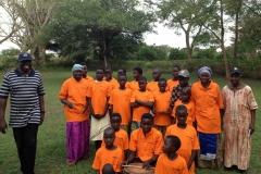 Donating T-Shirts to a rural church choir in Magala Eastern Uganda
