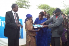 Working with United Way Uganda to hand over mosquito nets to young and pregnant Women in Nabuli village