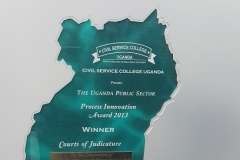 Award to Judiciary for Small Claims as best Public Innovation 2013