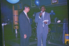Geoffrey at corporate function at Garden City 2002