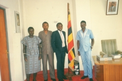 Geoffrey on secondment to the Uganda Embassy Kigali Rwanda