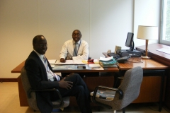 My office in Paris as Chair UNSECO Appeals Tribunal with Amb Philip Odida