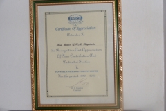 Pwico certificate of appreciation